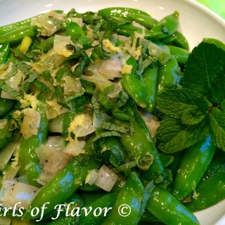 Buttery Lemon Mint Sugar Snap Peas