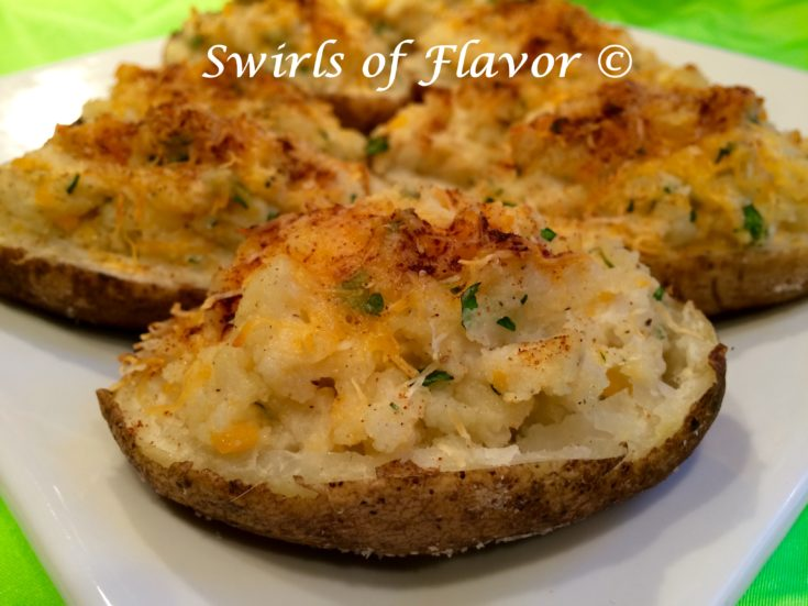 Twice Baked Cheddar Potatoes