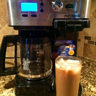 Cafe Au Lait Iced Coffee and Hamilton Beach 2-Way FlexBrew Coffeemaker Giveaway
