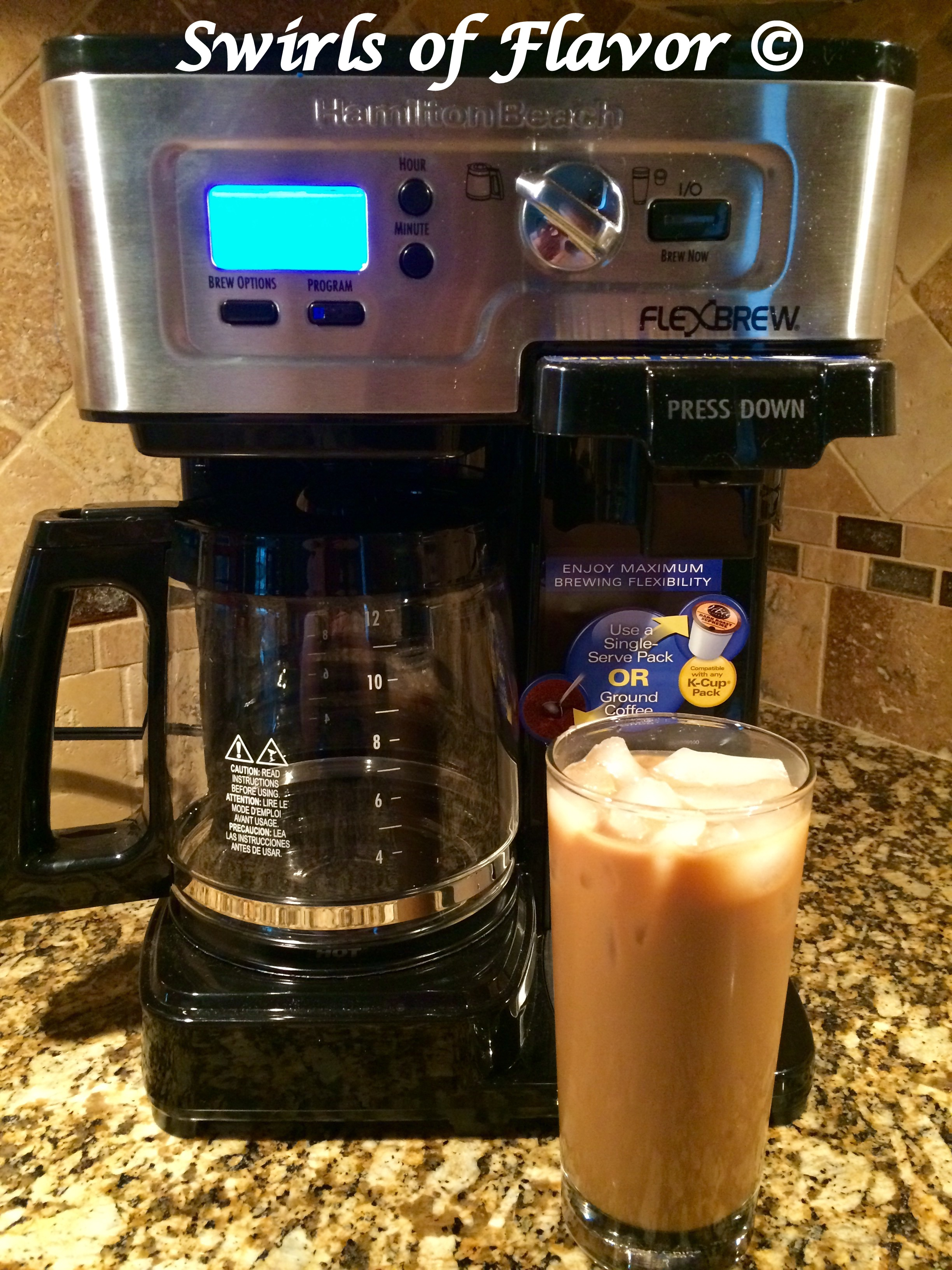 Cafe Au Lait Iced Coffee And Hamilton Beach 2 Way Flexbrew