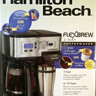 Hamilton Beach 2-Way FlexBrew Coffeemaker Giveaway Winner