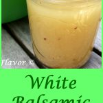White Balsamic Vinaigrette, a homemade salad dressing recipe, is sweet and tangy, easy to make and compliments any salad!