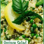 quinoa salad with avocado and peas