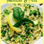 quinoa salad in white dish