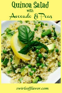 quinoa salad in white dish