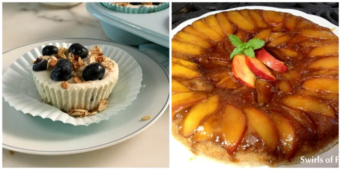 Triple Citrus Blueberry Cups and Netarine Upside Down Cake