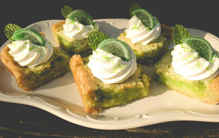 Mojito Key Lime Bars on platter