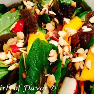 Almond Mango Baby Romaine Salad with Citrus Vinaigrette