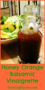 Honey Orange Balsamic Vinaigrette combinesthe perfect balance ofsweetness with the crisp edginess of citrus notes. honey | orange | citrus | salad dressing | vinaigrette | balsamic | balsamic vinaigrette | homemade