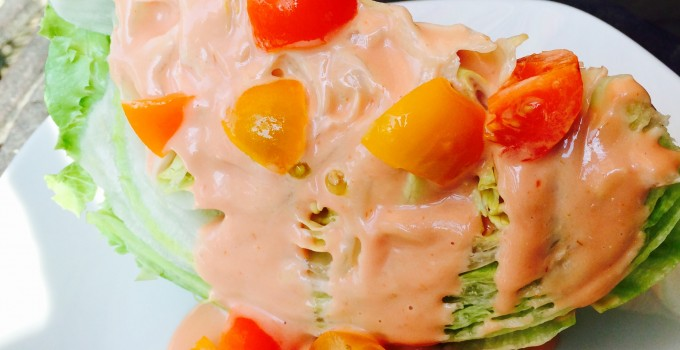 Iceberg Lettuce Wedge With Creamy Dressing