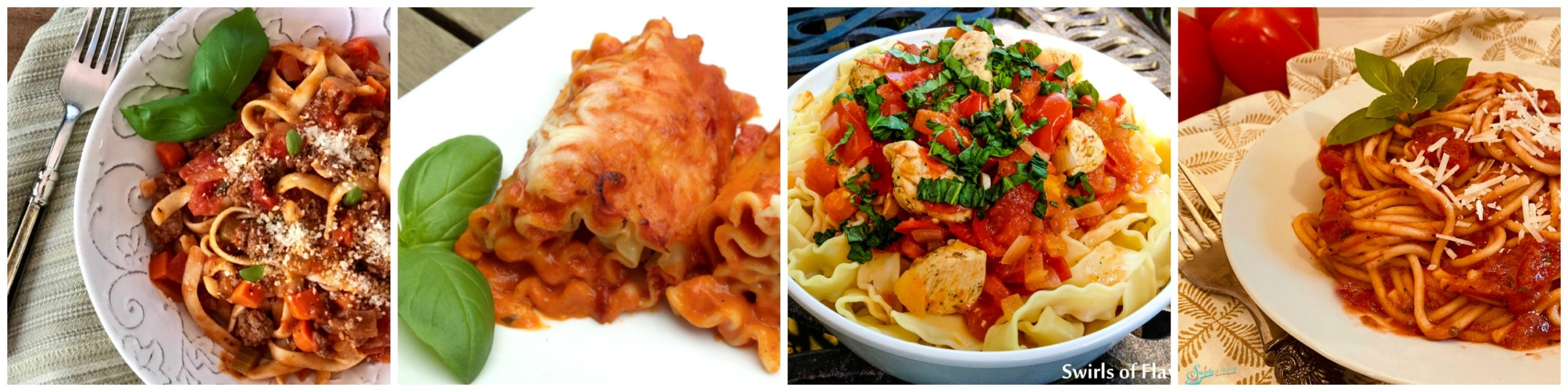 Four pasta recipes