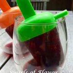 Pomegranate Plum Wine Ice Pops