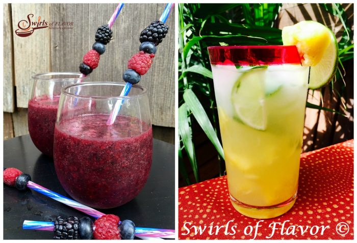 Berry Sangria Slushy and Pineapple mojito