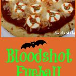Kids will loving eating Bloody Eyeball Pizza on Halloween! It's spooky and delicious! pizza | Halloween | fun for kids | spooky | dinner | snack