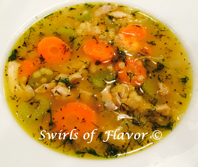 Chicken Lentil Soup in bowl