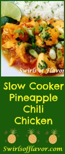 Slow Cooker Pineapple Chili Chicken makes it's own tangy sauce as it cooks! crockpot | chicken | easy | dinner | pineapple | instant pot