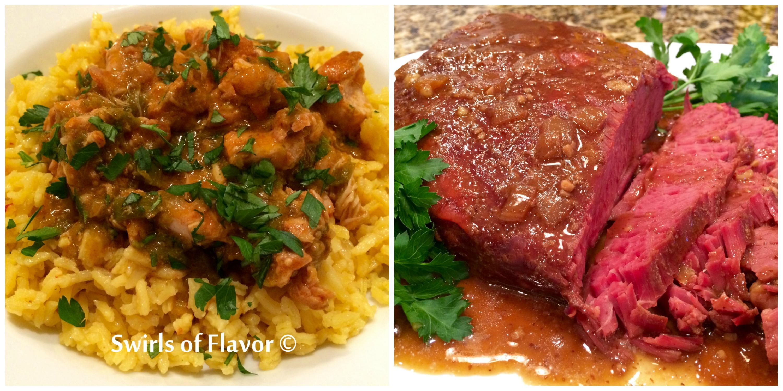 Salsa Verde Chicken and Corned Beef