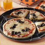 Halloween Spider Mini Pizzas
