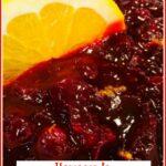 cranberry orange sauce with text overlay