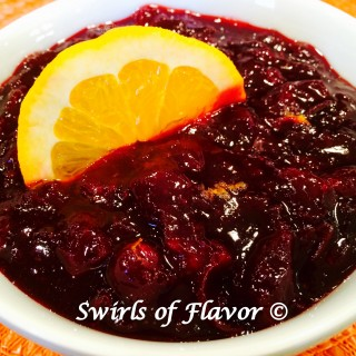 Brown Sugar Orange Cranberry Sauce