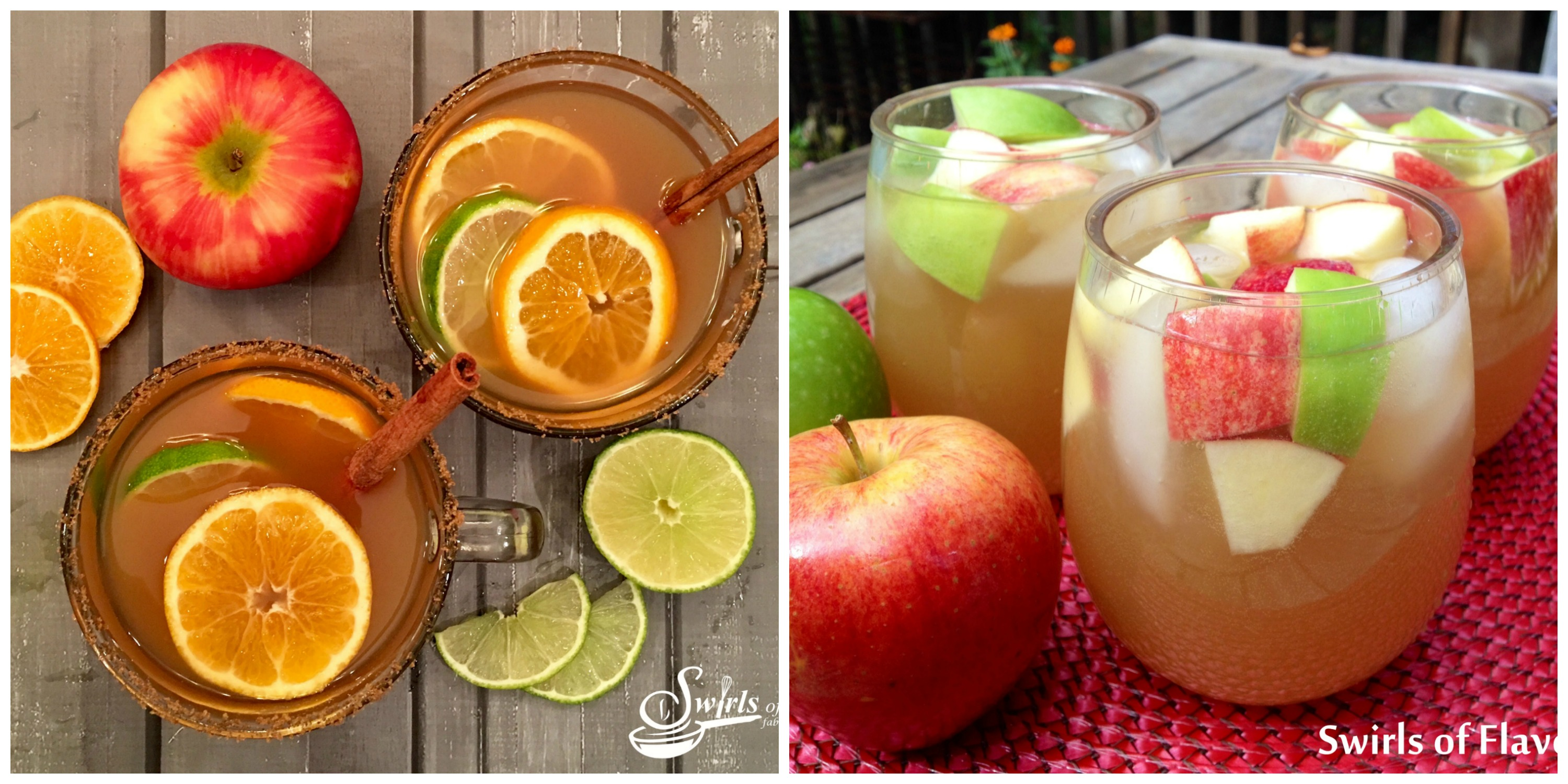 Mulled Apple Cider and Apple Cider Sangria