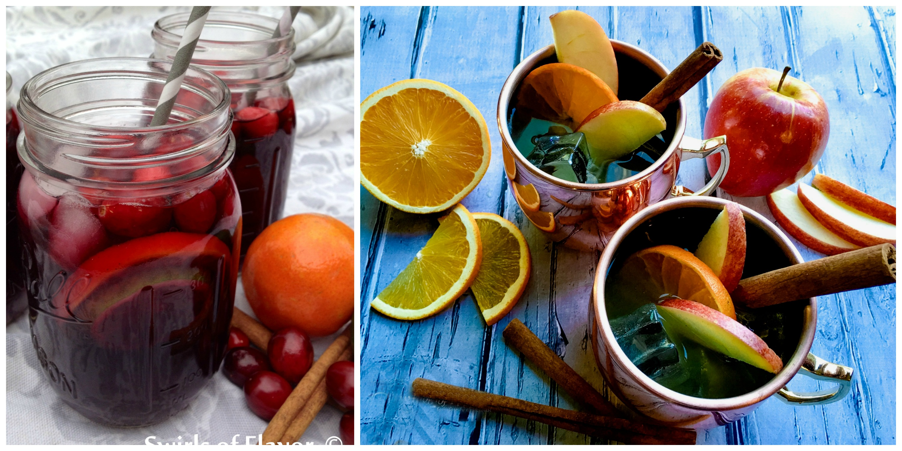 Cranberry Sangria and Apple Cider Moscow Mules