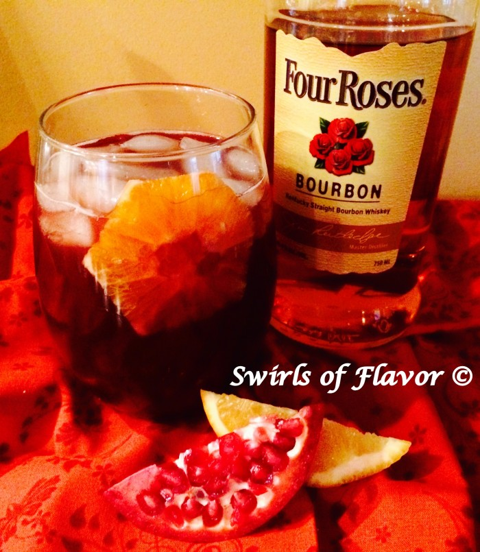 Pomegranate Bourbon Punch horizontal