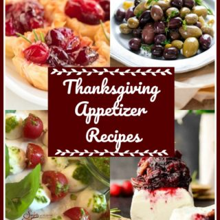 Collage of Thanksgiving appetizers