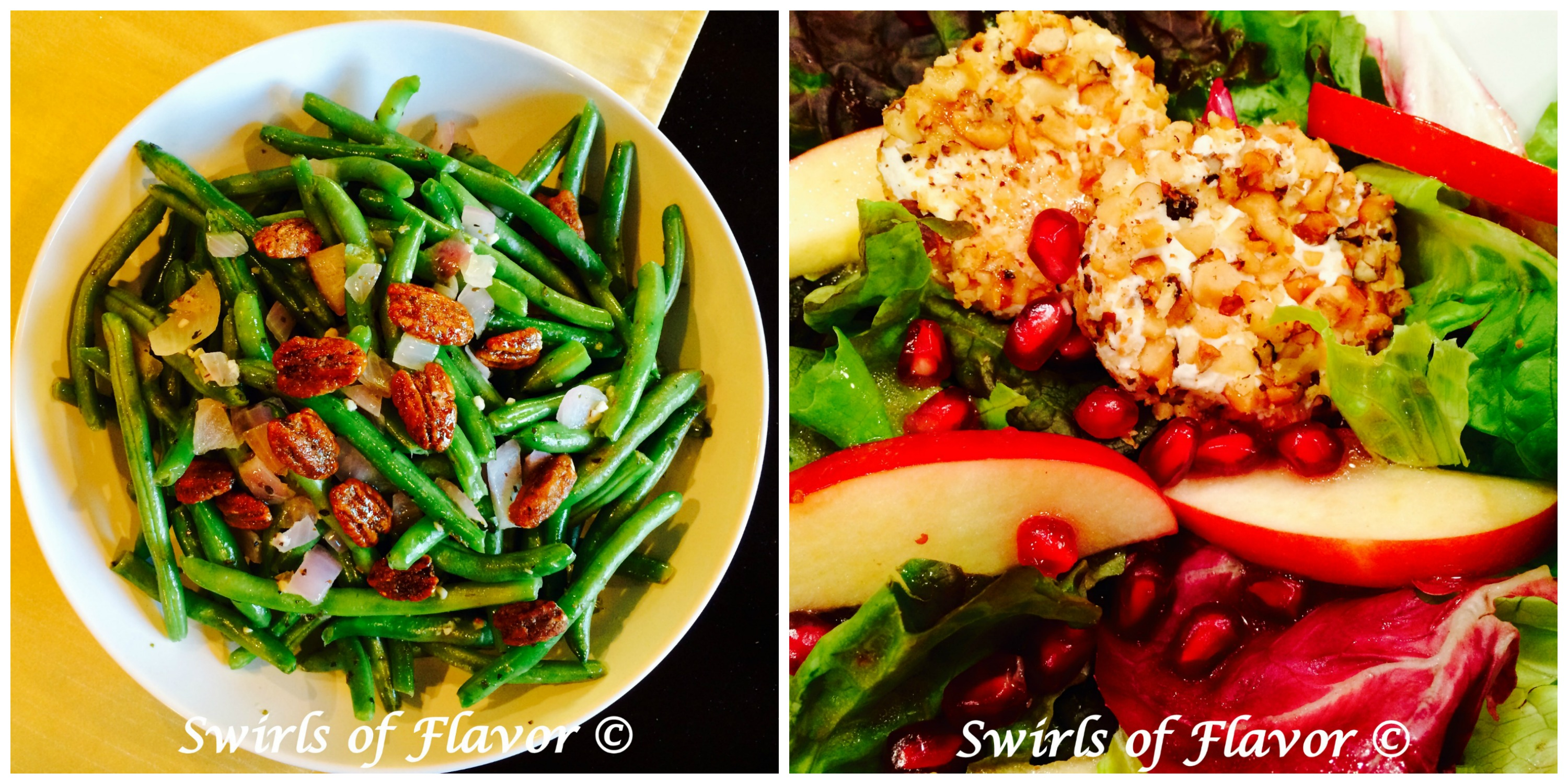 Pecan Green beans and Pomegranate Apple Mixed Salad