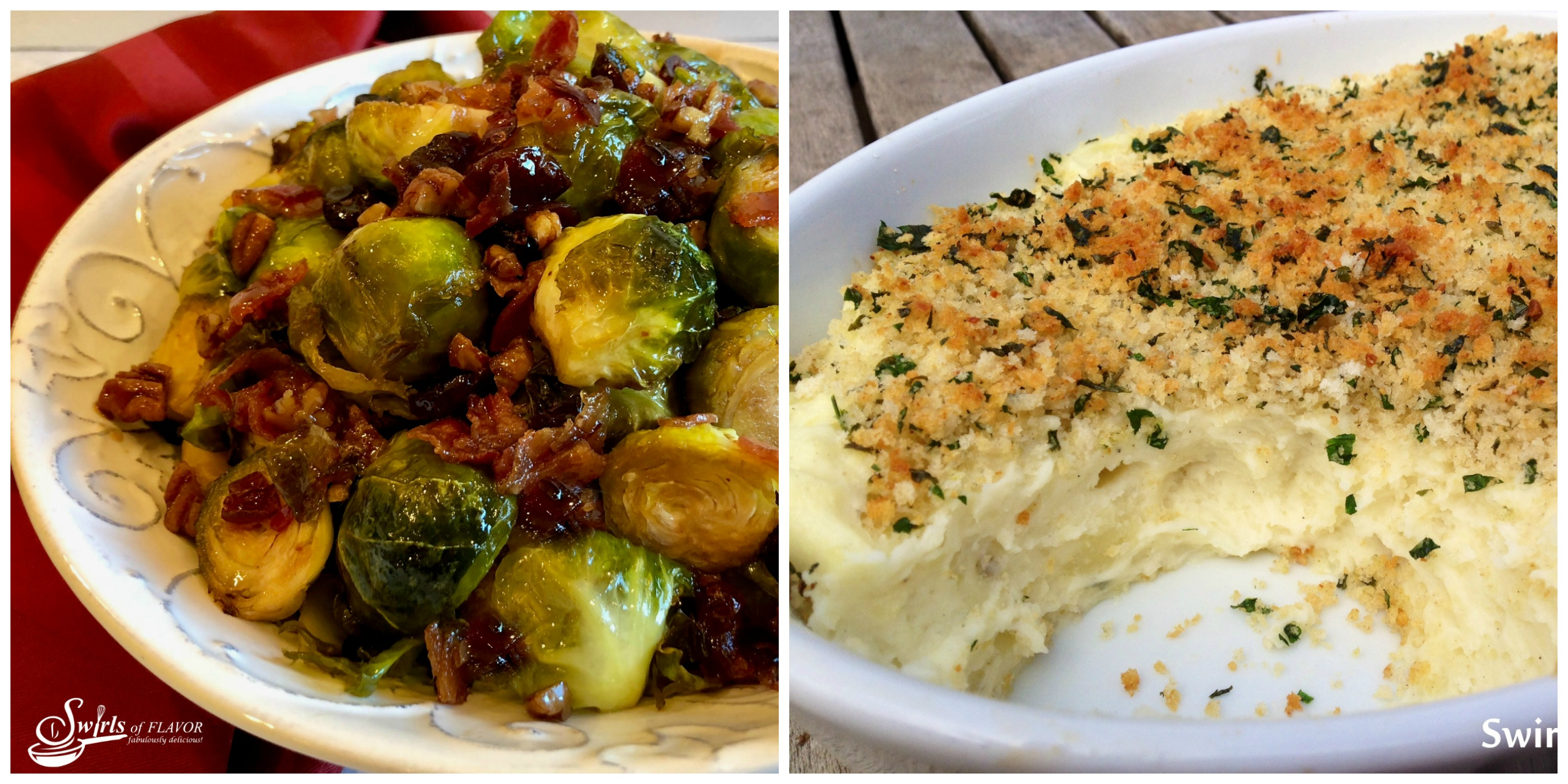 Brown Sugar Brussels Sprarlic Mashed Potatoes