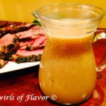 Quinoa Gravy in serving pitcher