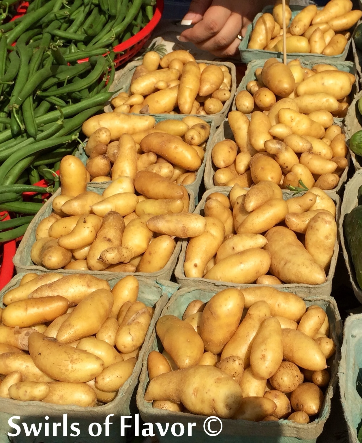 potatoes at the farmers market