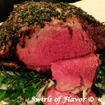 Garlic Infused Horseradish Crusted Prime Rib