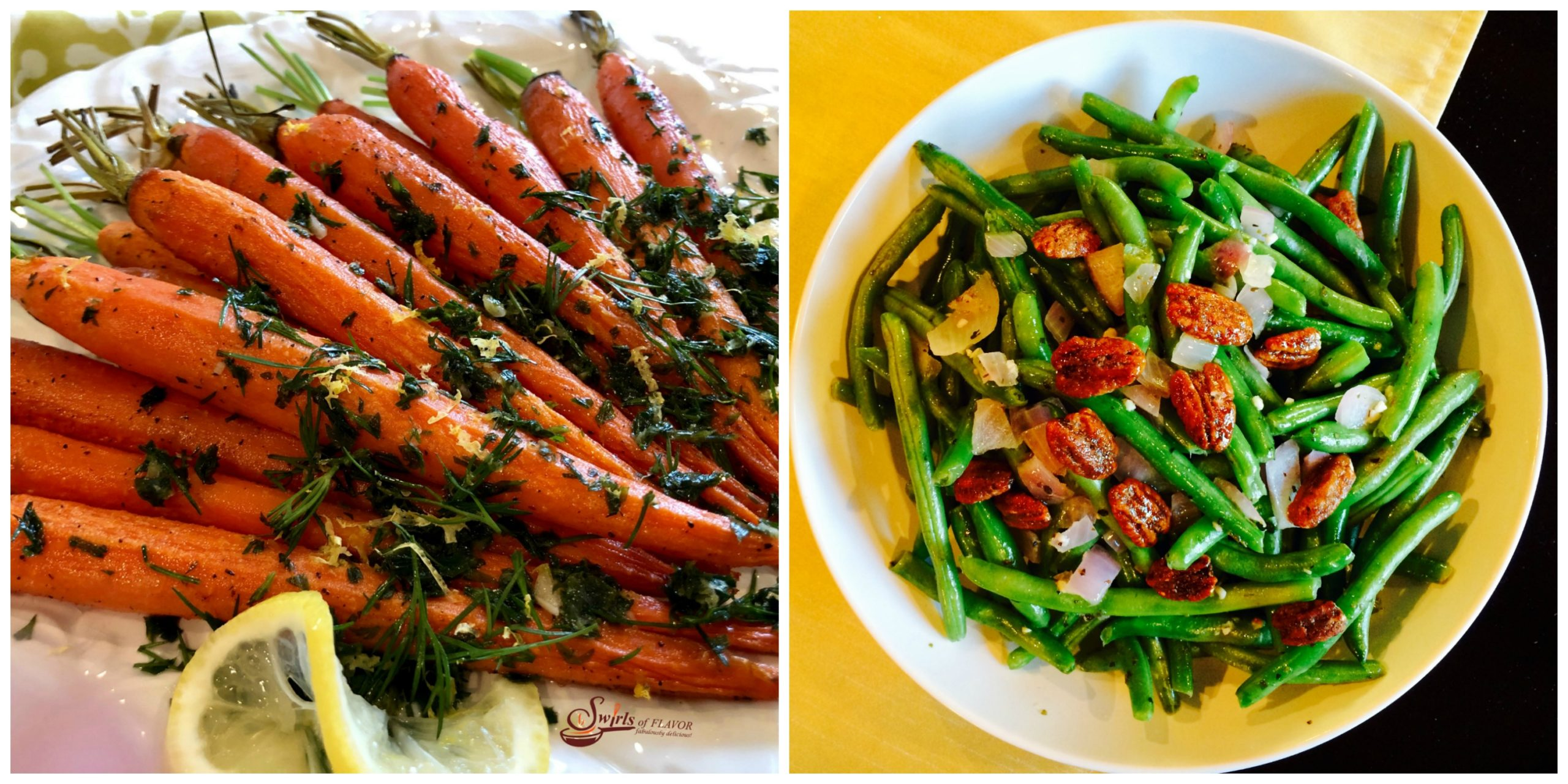 Roasted Carrots and Buttery Green Beans