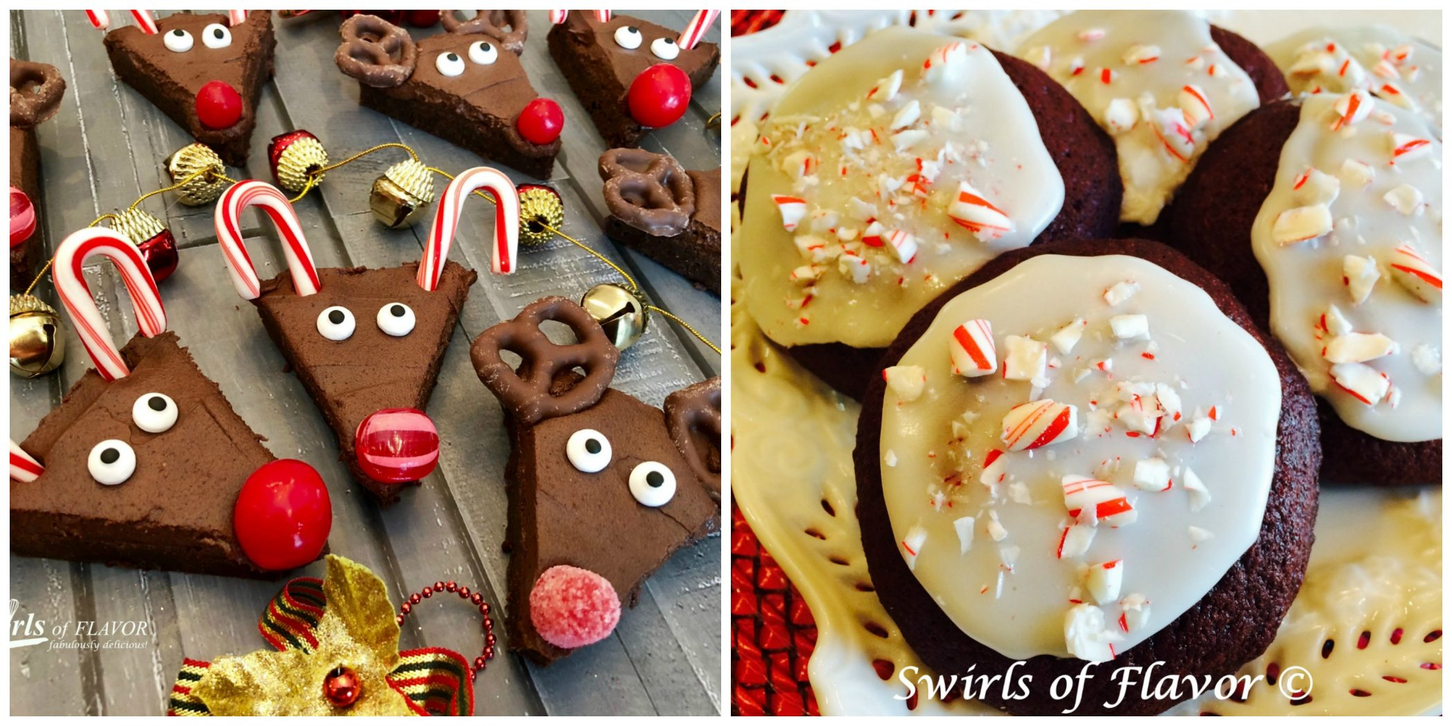 Reindeer Brownies and Peppermint Red Velvet Cookies