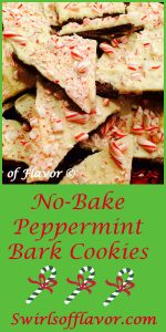 No-Bake Peppermint Bark Cookies are white chocolate surrounded by peppermint candy and chocolate cookies! Peppermint Bark Cookies are a twist on a holiday favorite! no-bake | cookies | peppermint | chcolate | bark | white chocolate | white chocolate bark holiday dessert | fun for kids