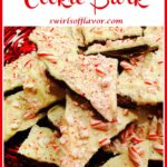 chocolate peppermint cookies with text overlay