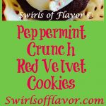 The red velvet cupcake has just become a cookie! Peppermint Crunch Red Velvet Cookie brings a peppermint sweetness to the holidays! cookies | red velvet | peppermnt | baking | holiday cookies | Christmas