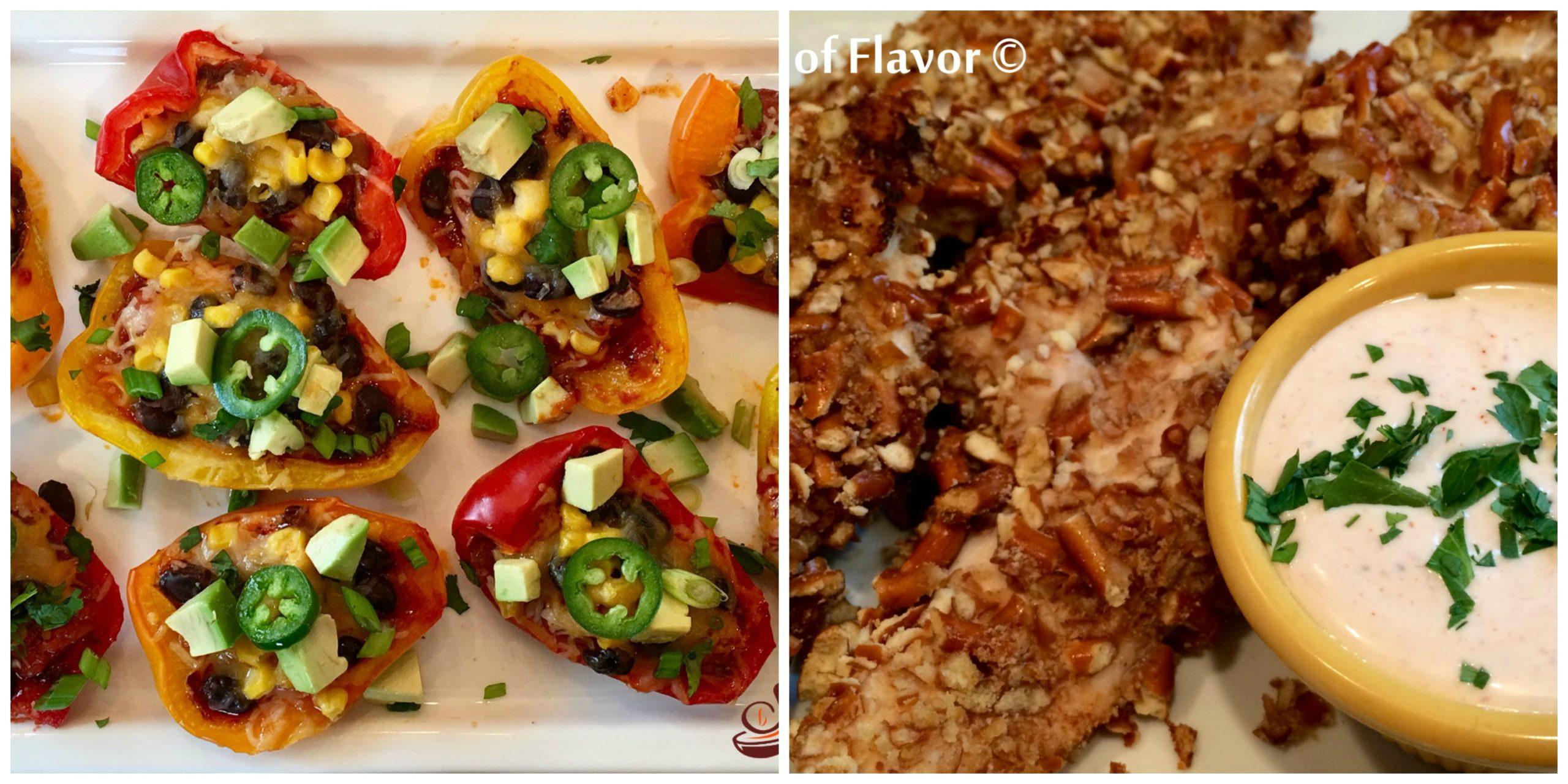 Nacho Peppers and Pretzel Chicken