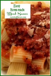 best ever meat sauce with pasta