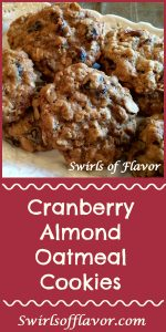 Bake up some love and sweet memories when you make Cranberry Almond Oatmeal Cookies! holiday baking | cookies | oatmeal | cranberry | almonds