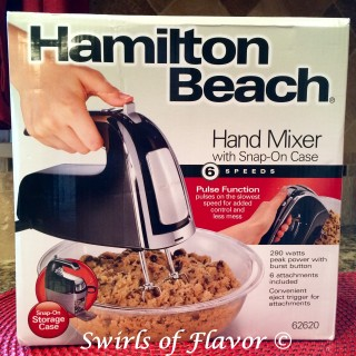 Hamilton Beach 6 Speed Hand Mixer With Pulse and Snap-On Case Giveaway! #Hamiltonbeach