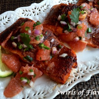 Ancho Salmon With Grapefruit Salsa