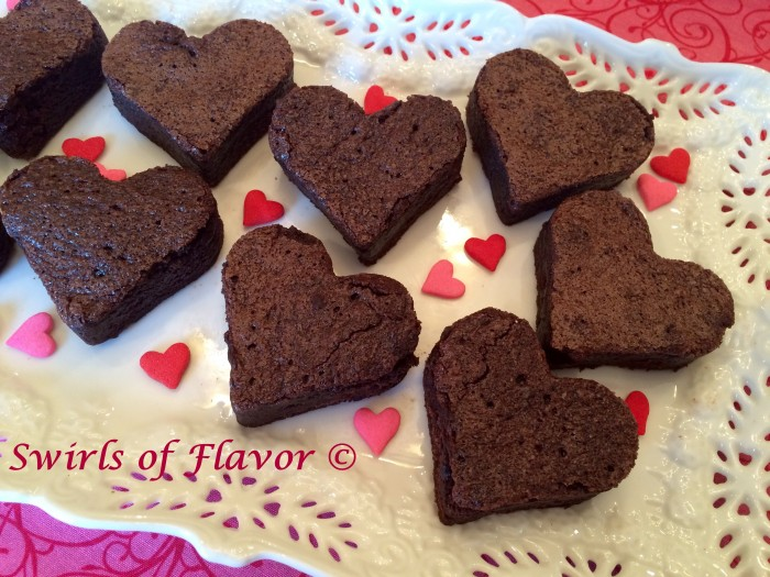Valentine Heart Brownies close-up