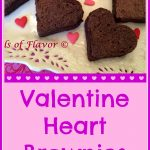 """Nothing says """"I love you"""" quite like fudgy chocolate heart-shaped brownies! Bake Valentine Heart Brownies this Valentine's Day for the special people in your life! brownies 