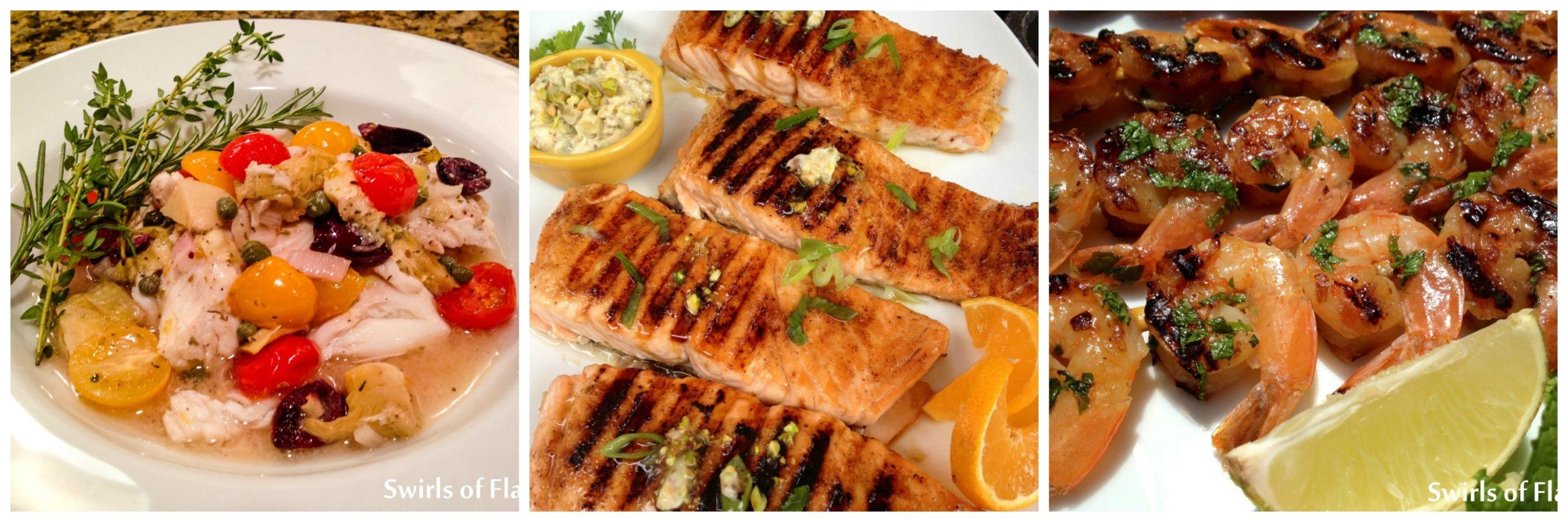 Tilapia Provencale, Pistachio Salmon and Mojito Salmon