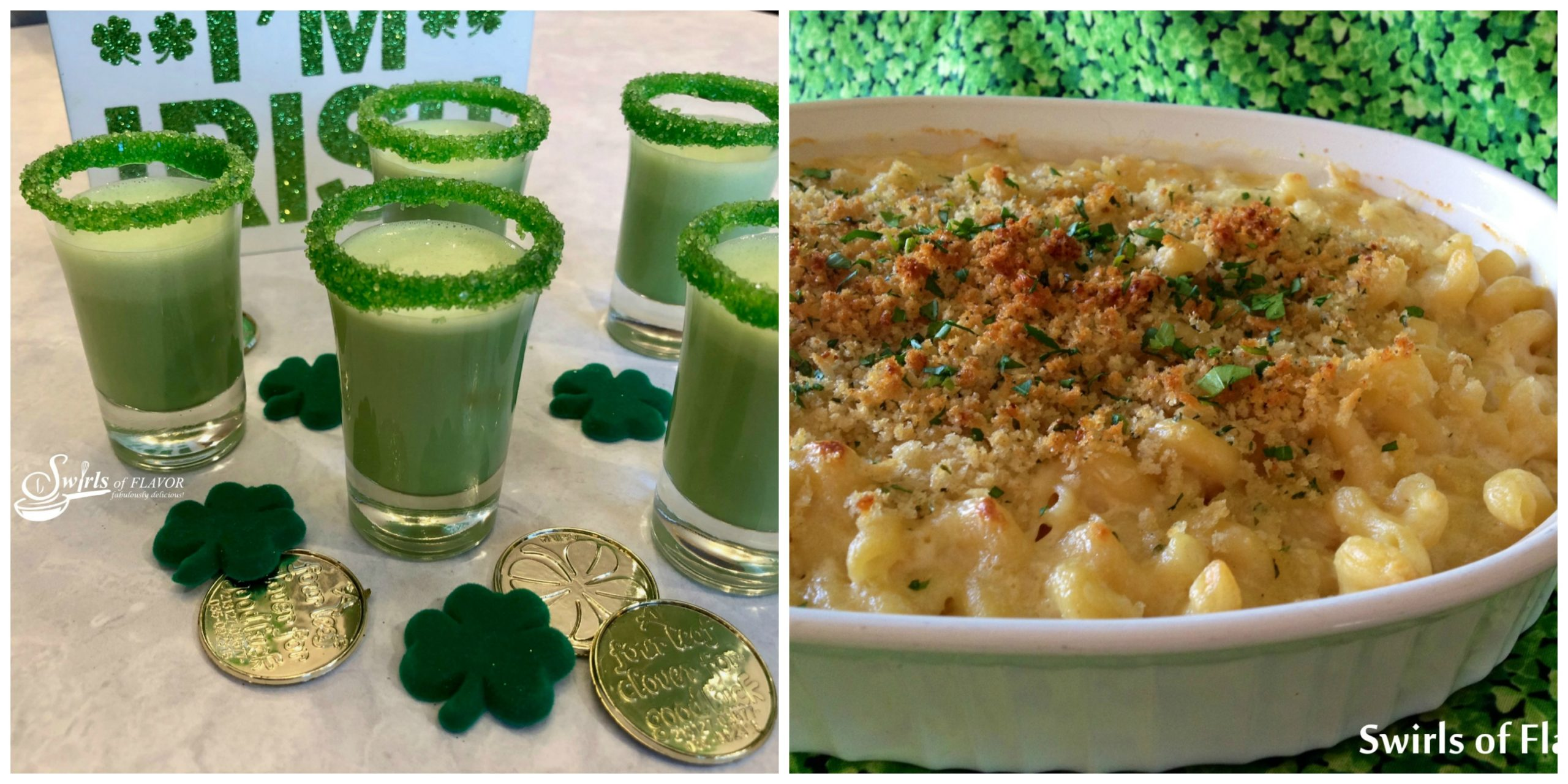 Shamrock Shake Shooters and Irish Mac and Cheese