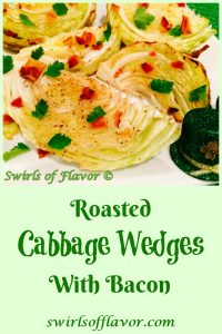 Give your cabbage a face lift this Saint Patrick's Day with our Roasted Cabbage Wedges With Bacon recipe! Wedges of cabbage are seasoned and oven roasted to tender perfection, then sprinkled with crumbled crispy bacon and fresh parsley leaves.