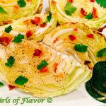 Cabbage Wedges with Bacon