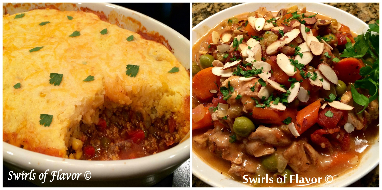 Chili Cornbread Bake and Moroccan Chicken